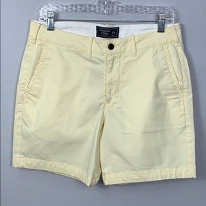 New Abercrombie & Fitch Stretch Chino Shorts 29